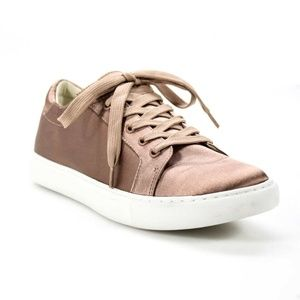 Kennith Cole 8 Sneakers Pink Gold Satin Low Shoes